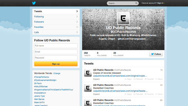 Uo public records bot